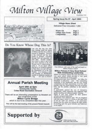 VV JC Issue 57 April 2003 (1)